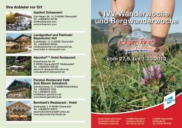 IVV-Wanderwoche und Bergwanderwoche - WSV Oberaudorf