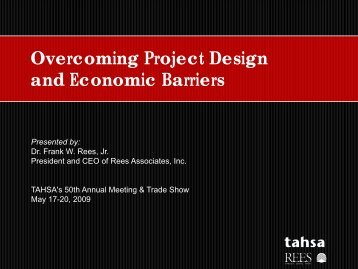 Overcoming Project Design and Economic Barriers
