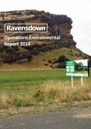 Operations Environmental Report 2014