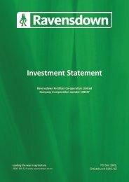 Investment Statement