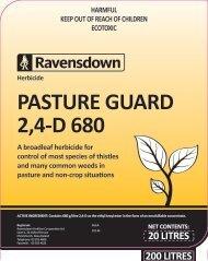Pasture Guard 2,4-D 680 Label - Ravensdown