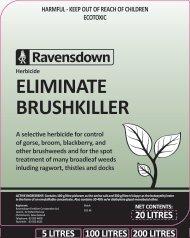 Eliminate Brushkiller Label - Ravensdown