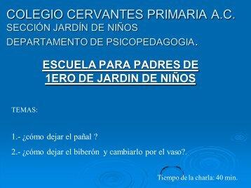 COLEGIO CERVANTES PRIMARIA A.C PSICOPEDAGOGIA