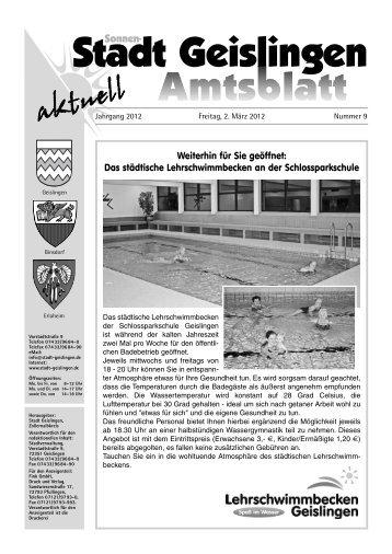 Radbörse am: 03. März 2012 - Stadt Geislingen