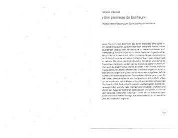 Une promesse de bonheur« - Thomas–Mann–Archiv - ETH Zürich
