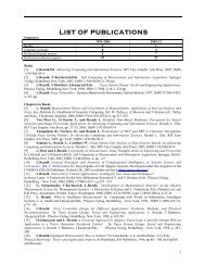 LIST OF PUBLICATIONS - Department of Computer Science