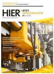 HIER+JETZT. Impulsmagazin // Ausgabe 01/2015