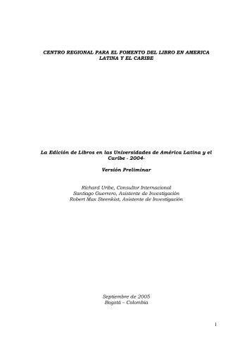 La edición de libros en las universidades de América Latina y el ...