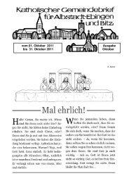 Gemeinsame Mitteilungen - Seelsorgeeinheit Ebingen, Lautlingen ...