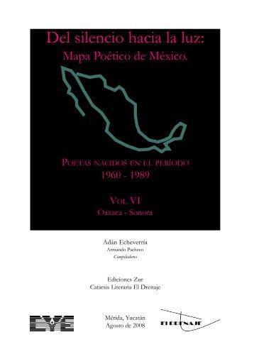 Mapa Poético de México. Poetas nacidos en el periodo 1960-1989