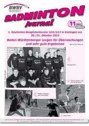 11/2012 - Baden - Württembergischer Badminton - Verband