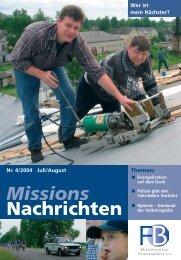 Missions Nachrichten - Verlag Friedensbote