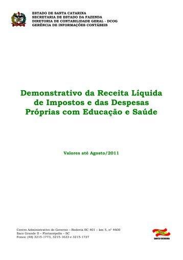 Capa EDUCAÇÃO SAUDE agosto - Secretaria de Estado da Fazenda