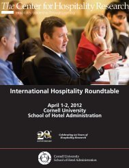 International Hospitality Roundtable - Cornell School of Hotel ...