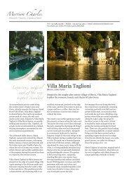 Villa Maria Taglioni - Merrion Charles