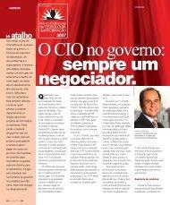 O CIO no governo