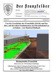 Termine - Die Franzfelder