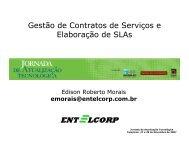 Gestão de Contratos de Serviços e Elaboração de SLAs