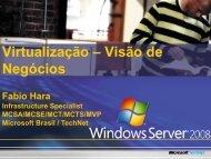 Virtualização – Visão de Negócios