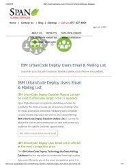 Buy Tele Verified IBM UrbanCode Deploy End User List from Span Global Services