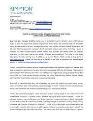 Media Contacts: M. Silver Associates Maria Ronan ... - Kimpton Hotels