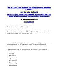 MKT 421 Week 5 Team Assignment Final Marketing Plan and Presentation.pdf