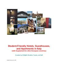 Student-Friendly Hotels, Guesthouses, and Apartments in Italy