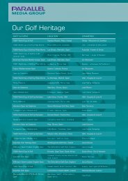 Our Golf Heritage - Parallel Media Group