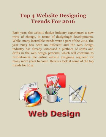 Top 4 Website Designing Trends For 2016.pdf