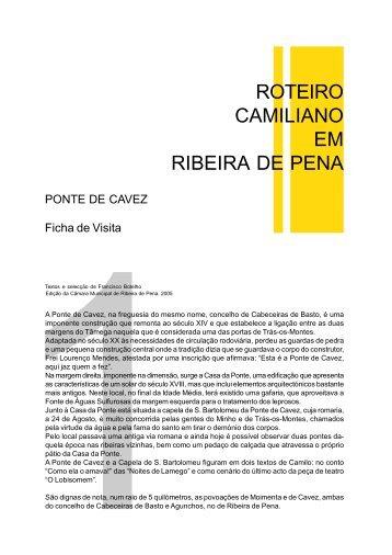 ROTEIRO CAMILIANO EM RIBEIRA DE PENA