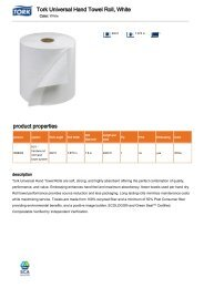 Tork Universal Hand Towel Roll White product properties