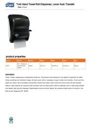 Tork Hand Towel Roll Dispenser Lever Auto Transfer product properties