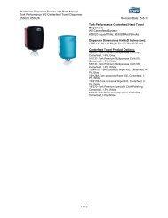 Washroom Dispenser Service and Parts Manual Tork Performance ...