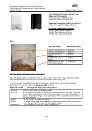 Washroom Dispenser Service and Parts Manual Tork Elevation H2 ...