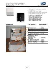 Washroom Dispenser Service and Parts Manual Tork Elevation H1 ...