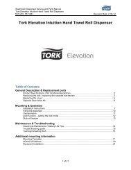 Tork Elevation Intuition Hand Towel Roll Dispenser