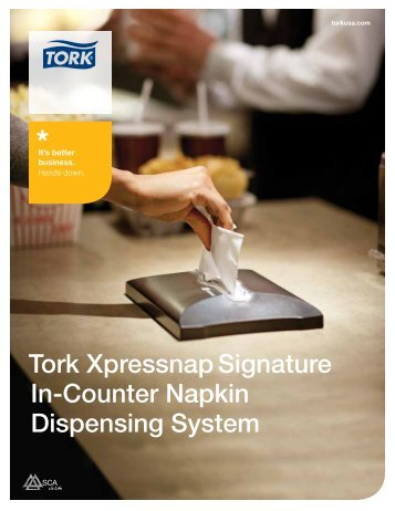 Tork Xpressnap Signature In-Counter Napkin Dispensing System