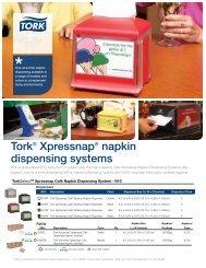 Tork Xpressnap napkin dispensing systems