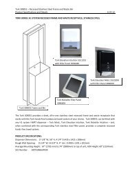 Tork 309051 – Recessed Stainless Steel Frame and Waste Bin ...