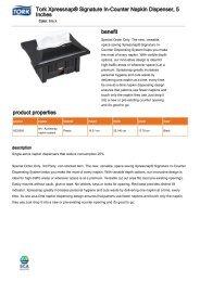 Tork Xpressnap® Signature In-Counter Napkin Dispenser, 5 Inches ...