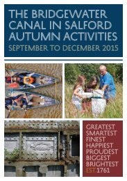 CANAL IN SALFORD Autumn Activities
