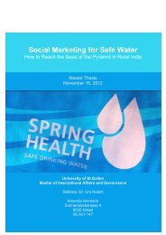Social Marketing for Safe Water