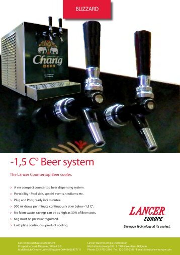 -1,5 C° Beer system