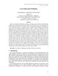 Cross Media and E-Publishing - SERSC