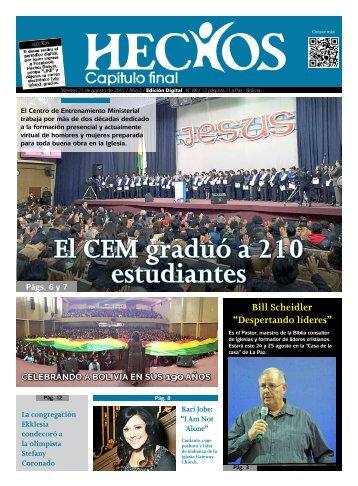 El CEM graduó a 210 estudiantes