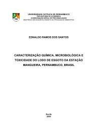 caracterização química, microbiológica e toxicidade do ... - Unicap