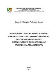 Danyelle Khadydja Felix dos Santos UTILIZAÇÃO DE ... - Unicap