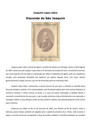 Joaquim Lopes Lebre Visconde de São Joaquim