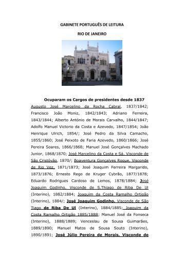 GABINETE PORTUGUÊS DE LEITURA RIO DE JANEIRO