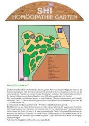 Pflanzensteckbriefe - SHI Haus der Homöopathie